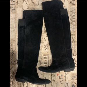 Nine West Suede Black Over the Knee boots